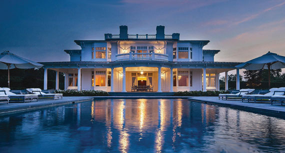 A $45 million listing at 9 Olde Towne Lane in Southampton being marketed by Douglas Elliman