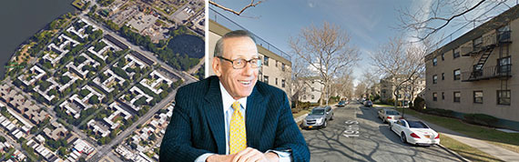 Stephen Ross with the Marine Terrace portfolio in Astoria.