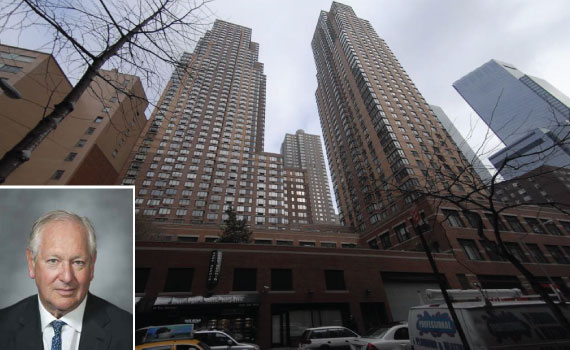 One Columbus Place at 400 West 59th Street (inset: Daniel Brodsky)