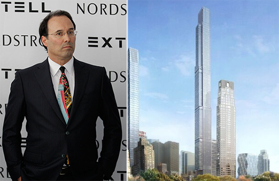 Gary Barnett and a rendering of Central Park Tower