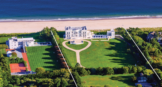 Hedge fund manager Scott Bommer sold 93, 97 and 101 Lily Pond Lane, an oceanfront estate with an 8,000-square-foot mansion.