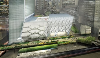 Rendering of the shed at Hudson Yards