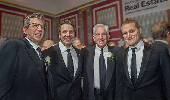 Bill Rudin, Gov. Andrew Cuomo, Stephen Green and Rob Speyer at the 2014 REBNY gala (Credit: Steve Friedman)