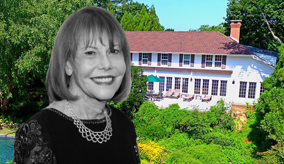 Barbara Goldsmith and her home at 86 Georgica Road