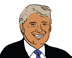 Donald Trump (Illustration by Lexi Pilgrim for The Real Deal)