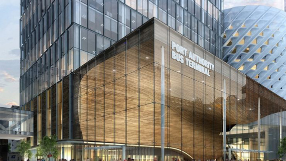 One of the proposed designs for the Port Authority's West Side bus terminal (credit: Archilier Architecture)