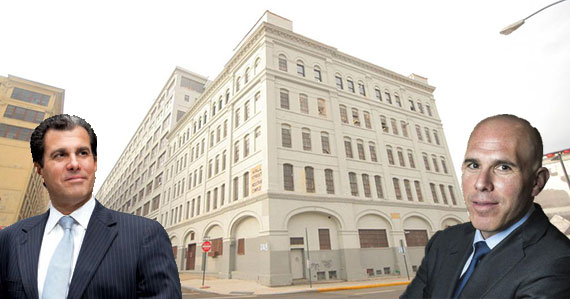 JLL's Peter Riguardi and Scott Rechler of RXR Realty with 47 Hall Street in Brooklyn