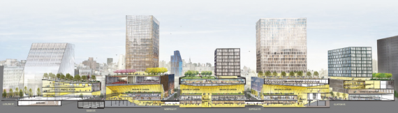 Rendering of Essex Crossing on the Lower East Side