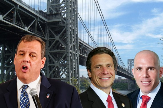 From left: the George Washington Bridge, Chris Christie, Andrew Cuomo and Scott Rechler
