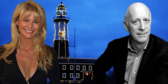 Christie Brinkley, Paul Goldberger and the Montauk Point Lighthouse
