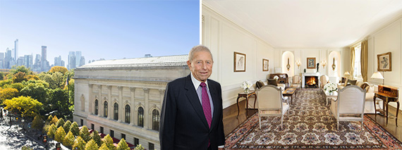 998 Fifth Avenue (credit: Sotheby's International Realty) and Ronald Stanton (credit: Getty Images)