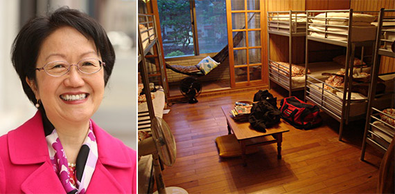 Margaret Chin and a hostel dormitory room