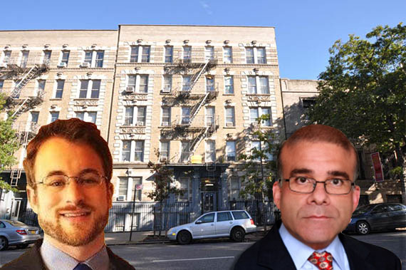 Housing Rights Initiative's Aaron Carr, 535 West 155th Street and Lucas Ferrara