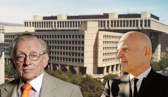 From left: Larry Silverstein FBI Headquarters in Washington, D.C. and Steve Roth