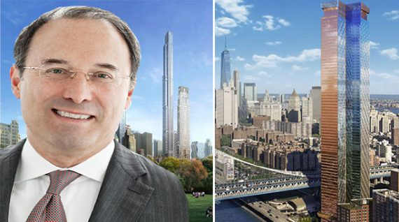 From left: Gary Barnett, Central Park Tower and One Manhattan Square
