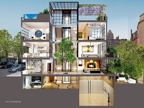 Rendering of 134 Charles Street (credit: Dolly Lenz Real Estate LLC)