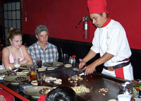 Dinner at Benihana restaurant (credit Larry D. Moore via Wiki Commons)