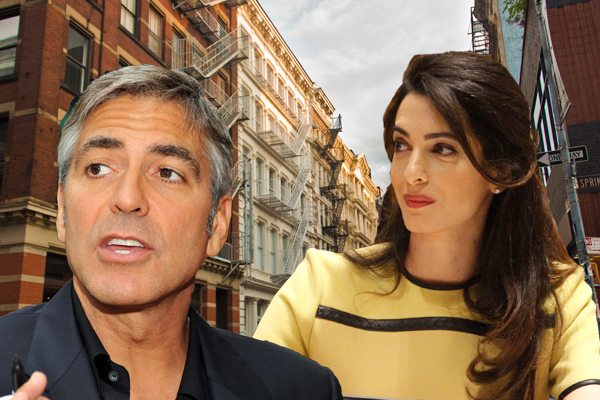 Clooney's Rent Townhouse With Violations 600-George-Clooney-Amal-Clooney-Credit-from-left-Michael-Vlasaty-Fuzzy-Images-UK-Mission-to-the-UN-