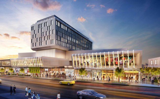 A rendering of the Empire Outlets shopping center in Staten Island