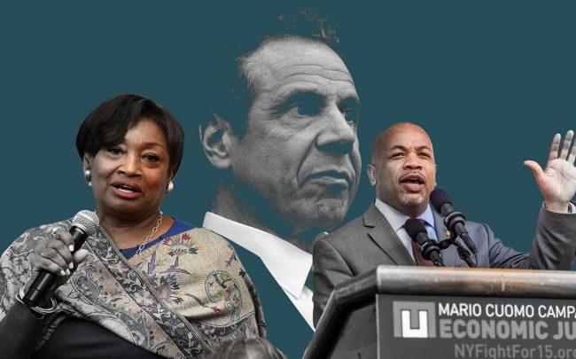 From left: Senate Majority Leader Andrea Stewart-Cousins, Governor Andrew Cuomo, and Assembly Speaker Carl Heastie (Credit: Getty Images)