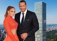 Jennifer Lopez, Alex Rodriguez and 432 Park Avenue (Credit: Getty Images)