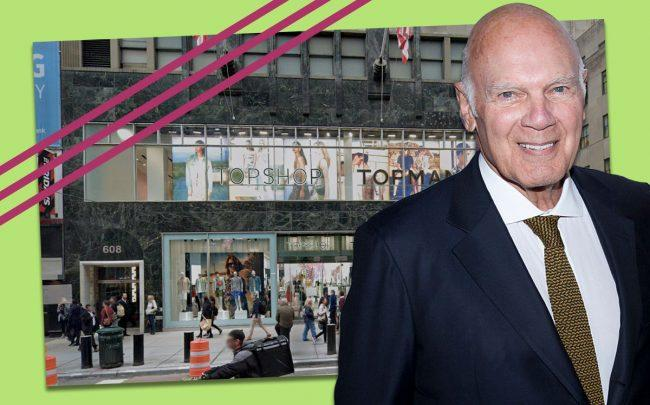 Vornado chairman and CEO Steven Roth, and 608 Fifth Avenue (Credit: Getty Images)