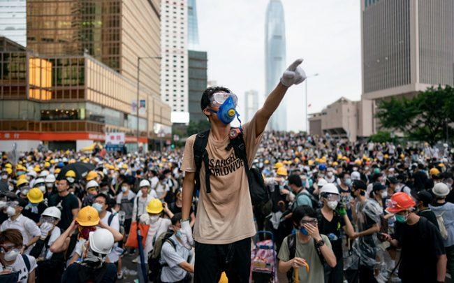 Protesters in Hong Kong (Credit: Getty Images)