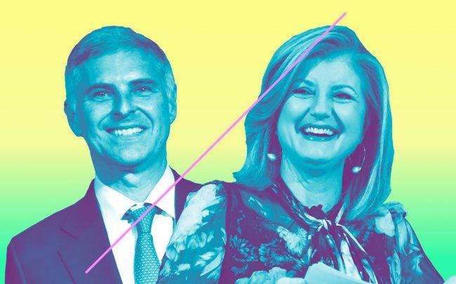 Hilton CEO Christopher Nassetta and Arianna Huffington (Credit: Getty Images)