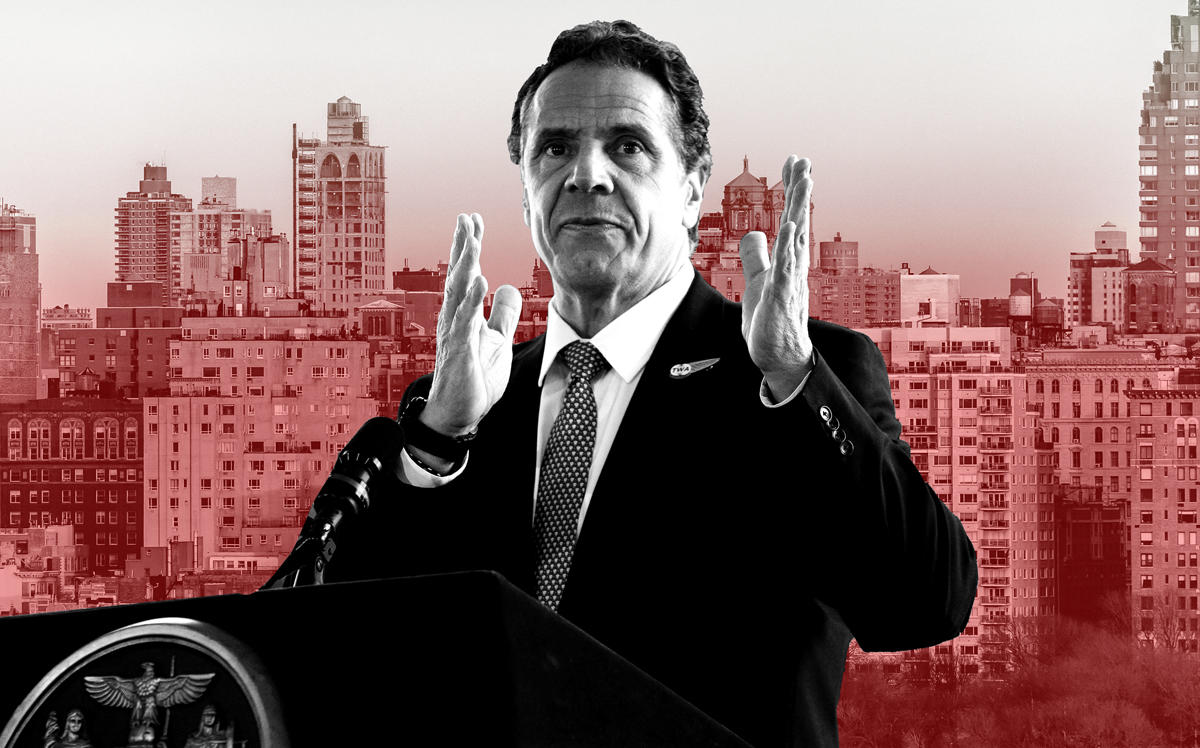 Governor Andrew Cuomo (Credit: Cuomo by Kevin Hagen/Getty Images; iStock)