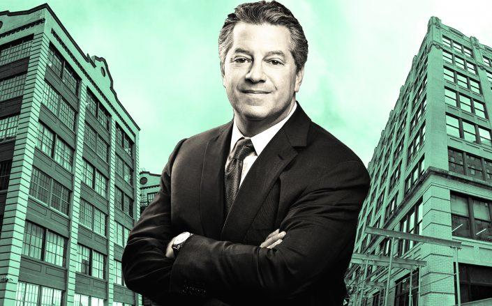 SL Green's Mark Holliday with Industry City in Brooklyn and 95 Morton Street (Credit: Industry City; SL Green; Google Maps)