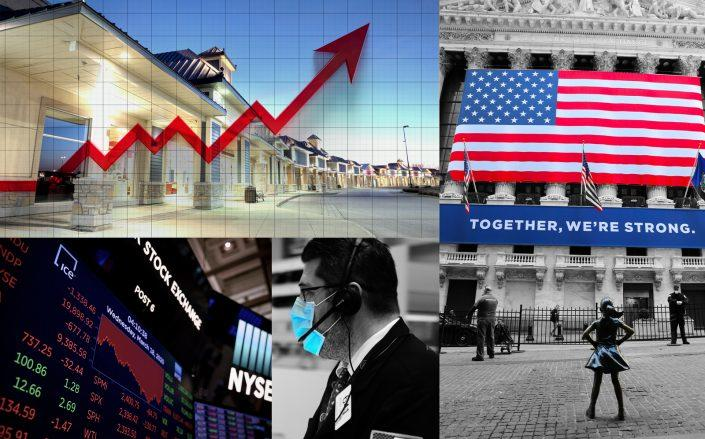 The FTSE Nareit All REITs index rose by 3.68 percent on Tuesday, outpacing the broader markets as the New York Stock Exchange reopened its trading floor following a two-month closure. (Getty; iStock)