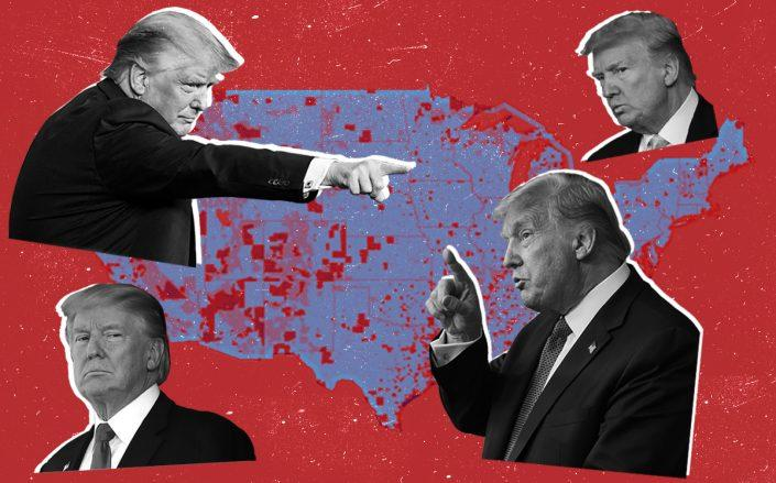 Donald Trump and Opportunity Zones across the U.S. (Getty, Enterprise Community Partners)