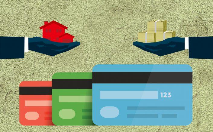 Cash-strapped mortgage borrowers are paying off credit cards and other consumer debt instead because those bills are lower (iStock)