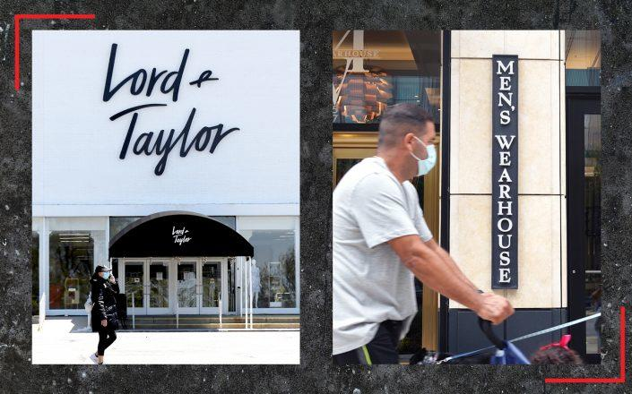 Lord & Taylor and Men's Wearhouse are just the latest big retail chains to file for bankruptcy (Lord and Taylor by Bruce Bennett/Getty Images; Men's Warehouse by Scott Olson/Getty Images)