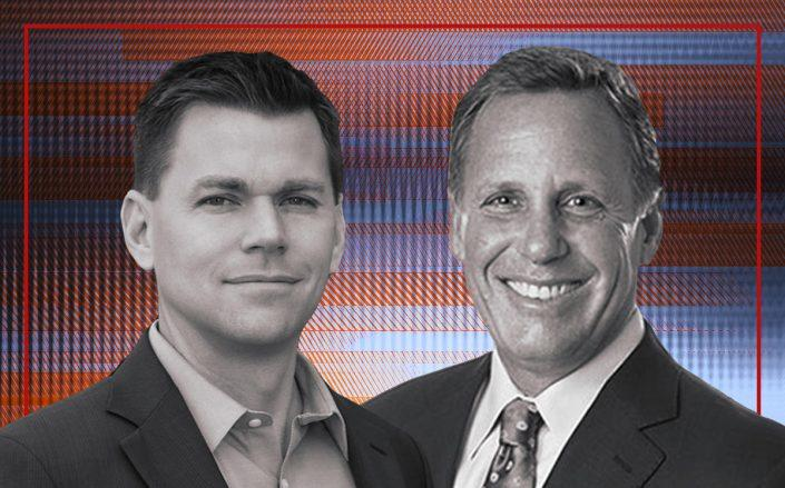 Endpoint CEO Scott Martino and First American CEO Dennis Gilmore (iStock)