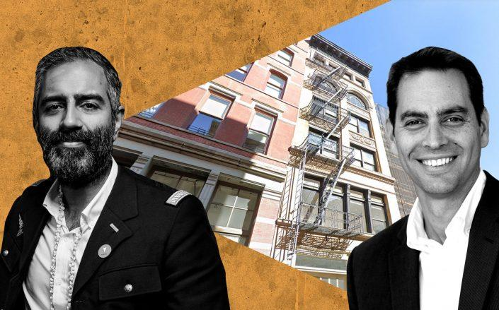 Knotel's Amol Sarva and Northwind's Ran Eliasaf with 40 Wooster Street (Google Maps)