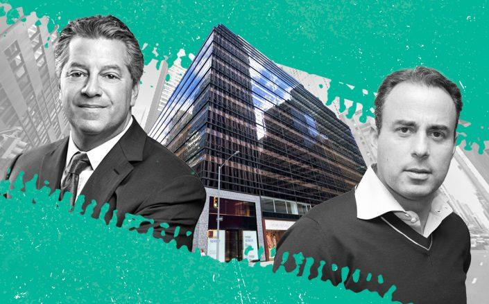 SL Green CEO Marc Holliday, 625 Madison Avenue and Ashkenazy Acquisition CEO Ben Ashkenazy (photo via SL Green, Google Maps / Illustration by Kevin Rebong for The Real Deal)