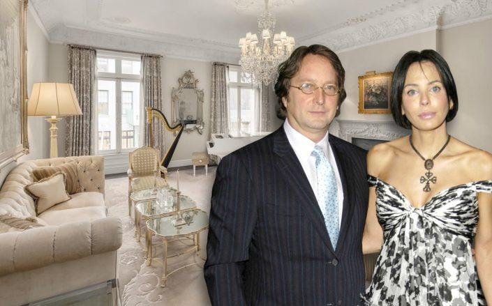Philip Falcone with his wife Lisa Marie Falcone and their home in Manhattan.  (Getty, Christie's Real Estate)